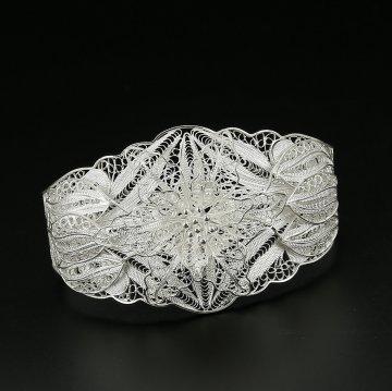 Серебряный браслет Ажурная лилия