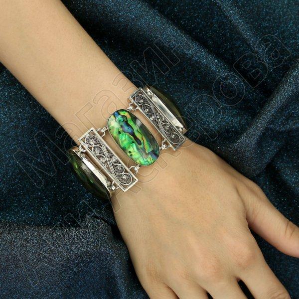Серебряный браслет (гелиотис)