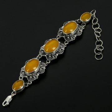 Серебряный браслет (агат)