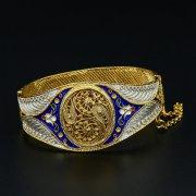 Серебряный браслет с филигранью