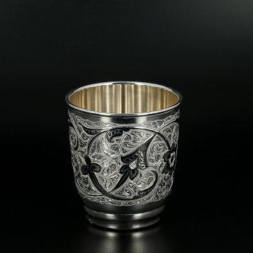 Серебряный стакан 130 мл (исполнение люкс)
