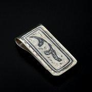 Серебряный зажим для денег