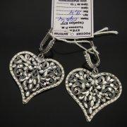 Кубачинские серебряные серьги ручной работы с гравировкой арт.7515