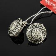 Кубачинские серебряные серьги ручной работы с чернением арт.7935