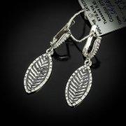 Кубачинские серебряные серьги ручной работы с чернением арт.5541