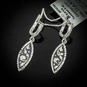 Кубачинские серебряные серьги ручной работы с чернением арт.5551