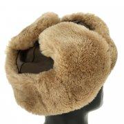 Мужская шапка-ушанка из овчины ручной работы арт.10471