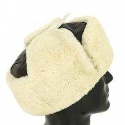 Мужская шапка-ушанка из овчины ручной работы арт.10472