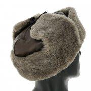 Мужская шапка-ушанка из овчины ручной работы арт.11562