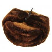 Мужская шапка-ушанка из овчины ручной работы (цигейка) арт.7355