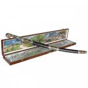 Кубачинский подарочный набор в футляре (шашка с позолоченными вставками) арт.6828
