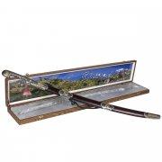 Кубачинский подарочный набор в футляре (шашка с позолоченными вставками) арт.7583