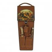 Кизлярский шашлычный набор в кожаном чехле арт.5748