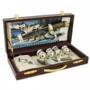 Кизлярский туристический набор для пикника в кожаном футляре арт.5754