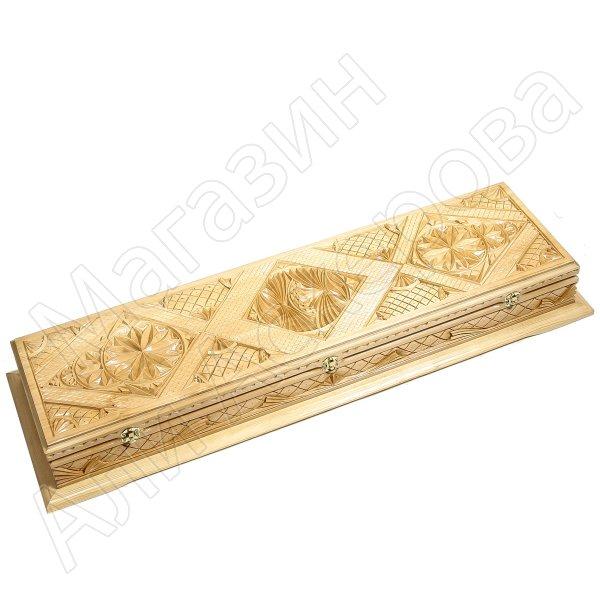 Кизлярский шашлычный набор ручной работы в деревянном кейсе