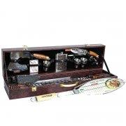 Кизлярский шашлычный набор в подарочном кейсе большой №4 (каштановый)
