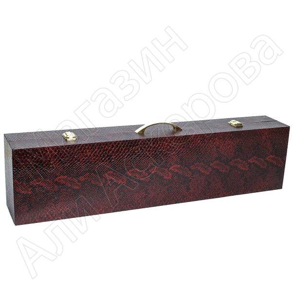 Кизлярский шашлычный набор в подарочном кейсе №4 (каштановый)