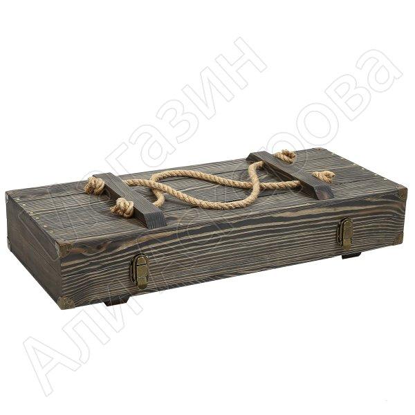 """Эксклюзивный шашлычный набор в деревянном чемодане """"Президент"""""""