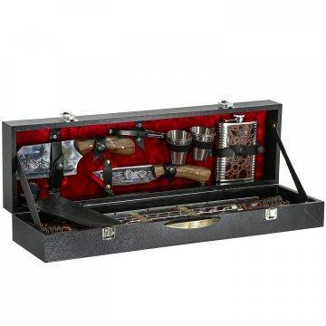 Кизлярский шашлычный набор в подарочном кейсе №3 (черный)