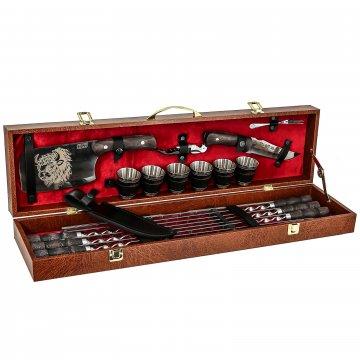 Кизлярский шашлычный набор в подарочном кейсе