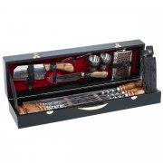 Кизлярский шашлычный набор в подарочном кейсе малый №3 (черный) арт.10245