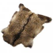 Натуральная козья шкура (цвет - бурый, длинный ворс, ручная выделка) арт.6155
