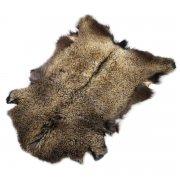 Натуральная козья шкура (цвет - бурый, длинный ворс, ручная выделка) арт.6156