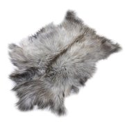 Натуральная козья шкура (цвет - серый, длинный ворс, ручная выделка) арт.6158
