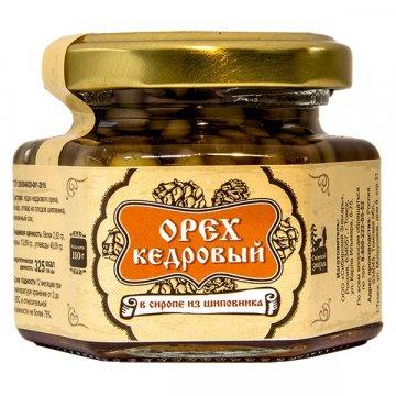 Натуральный сироп из шиповника с кедровым орехом