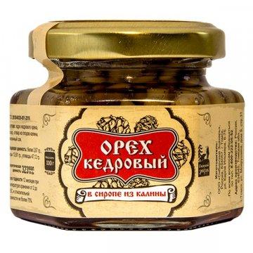 Натуральный сироп из калины с кедровым орехом