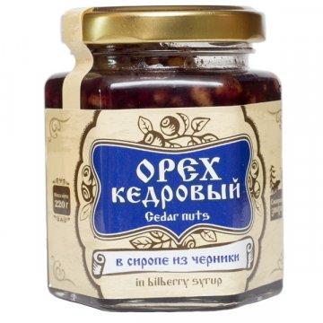 Натуральный сироп из черники с кедровым орехом