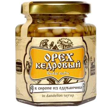 Натуральный сироп из одуванчика с кедровым орехом