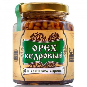 Натуральный сосновый сироп с кедровым орехом