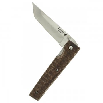 Складной нож Танто (сталь AUS-8, рукоять - дерево)