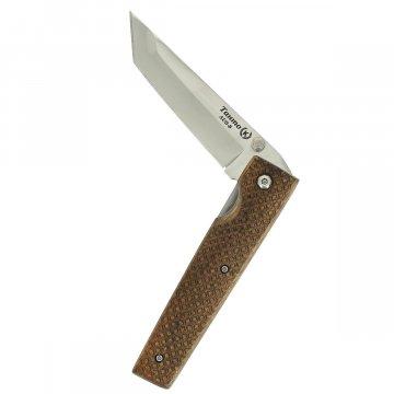 Складной нож Танто (сталь AUS-8, рукоять орех)