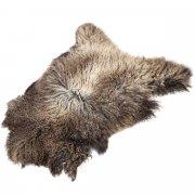 Натуральная козья шкура (цвет - светло-бурый, длинный ворс, ручная выделка) арт.5026