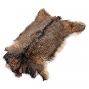 Натуральная козья шкура (цвет - бурый, длинный ворс, ручная выделка) арт.5028