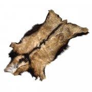 Натуральная козья шкура (цвет - рыжий, короткий ворс, ручная выделка) арт.5281