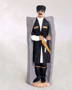 """Подарочная статуэтка ручной работы """"Свадьба кавказца"""" обожженная глина"""