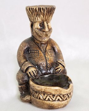 """Подарочная статуэтка ручной работы """"К пиру готов!"""" обожженная глина"""