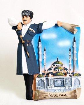 """Подарочная статуэтка на стену ручной работы """"Тацор Дагестана"""" №2 обожженная глина"""