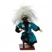 """Сувенирная кукла-композиция на деревянной подставке """"Джигит с кинжалом"""" арт.6652"""