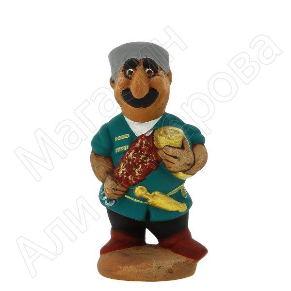 """Подарочная статуэтка ручной работы """"Шашлычник"""" (обожженная глина)"""