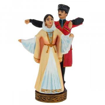 """Подарочная статуэтка ручной работы """"Парный танец"""" (обожженная глина)"""