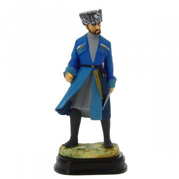 """Подарочная статуэтка ручной работы """"Джигит с кинжалом"""" (обожженная глина)"""