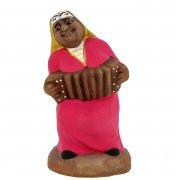 """Подарочная статуэтка ручной работы """"Веселая соседка"""" обожженная глина арт.8397"""