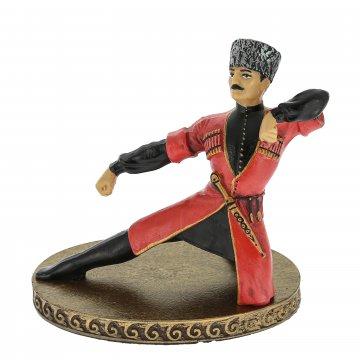 Подарочная статуэтка Зажигающая лезгинка (обожженная глина)