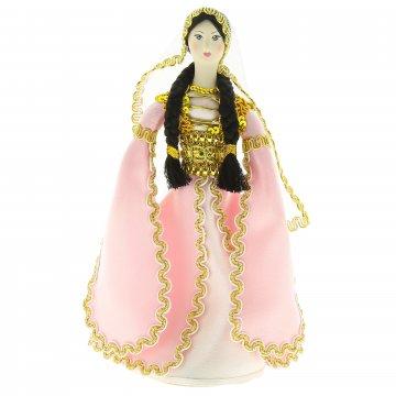 Керамическая кукла в национальном кавказском костюме