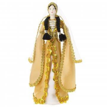 Керамическая кукла в национальном кавказском костюме (большая)