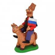 """Подарочная статуэтка ручной работы """"Казак на лошади"""" арт.8990"""